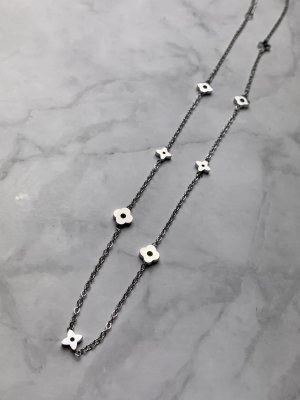 Necklace silver-colored-light grey