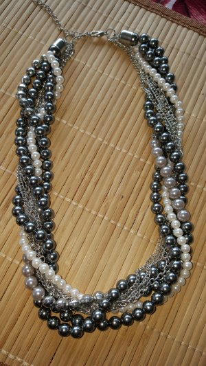 Collar de perlas multicolor