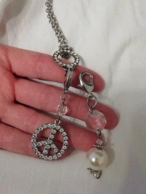 Kette Statement Peace Perle Halskette Necklace