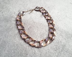 Kette Statement Silber Bronze Gliederkette