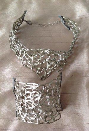 La perla Zilveren ketting lichtgrijs