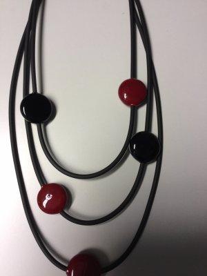 Ca'd'Oro Venezia Collier noir-rouge foncé