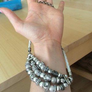 Biba Necklace white-light grey