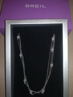 Breil Necklace silver-colored-lilac metal
