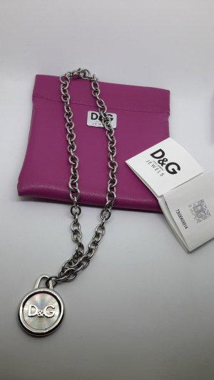 Dolce & Gabbana Collier incrusté de pierres argenté