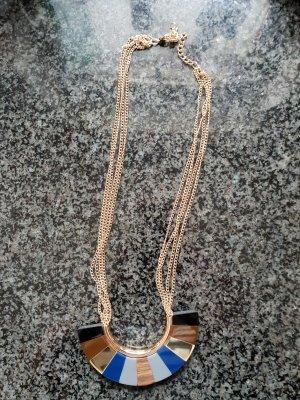 Desigual Collana bronzo-blu acciaio