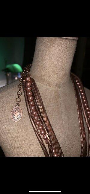 Konplott Collar estilo collier color rosa dorado-bermejo