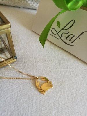 Leaf Necklace gold-colored