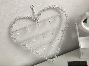 Ketten Aufhänger Herz Weiß