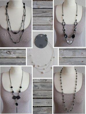 Ketten Set 5 x Halsketten Accessoires Schmuck Paket