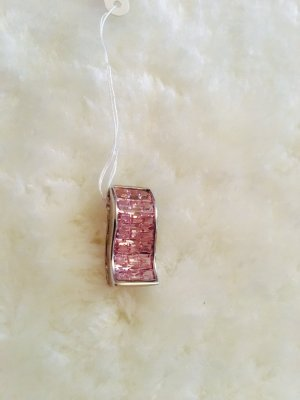 Pendant silver-colored-pink real silver