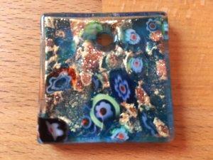 Murano Colgante multicolor vidrio