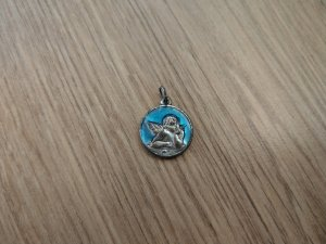 Pendente argento-blu neon