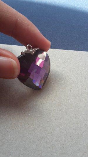 Pendant purple-silver-colored