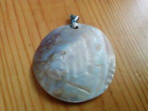 Kettenanhänger Perlmut mit Silber Rund Kreis NEU