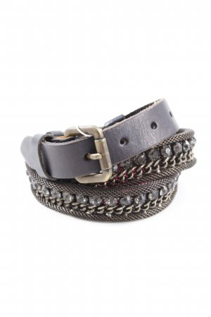 Chain Belt grey brown-dark brown casual look