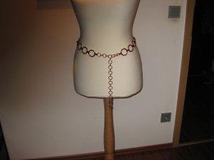 Cinturón de cadena color bronce