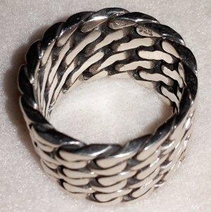 Kettenring breit Silber Bandring