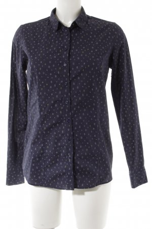 kew 159 Langarm-Bluse dunkelblau Motivdruck Business-Look