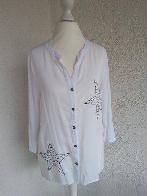 Key Largo Bluse weiß/silber Gr.S top Zustand