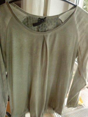 Key Largo Blusenshirt in hellem olivgrün  L