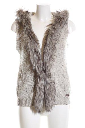 Key Largo Smanicato di pelliccia grigio chiaro stile casual
