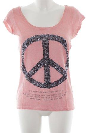 key largo girls Print-Shirt apricot Schriftzug gedruckt Casual-Look