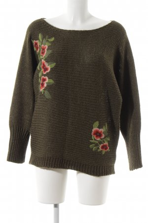 key largo girls Strickpullover khaki Zopfmuster Casual-Look