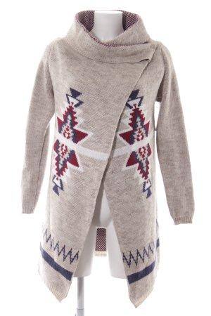 key largo girls Cache-cœur en tricot motif ethnique molletonné