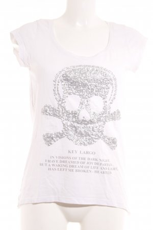 key largo girls T-Shirt weiß-silberfarben Casual-Look