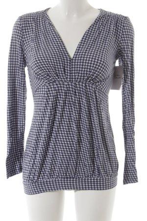 key largo girls V-Ausschnitt-Pullover blau-weiß Hahnentrittmuster Casual-Look
