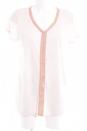 key largo girls V-Ausschnitt-Shirt creme-neonpink Casual-Look
