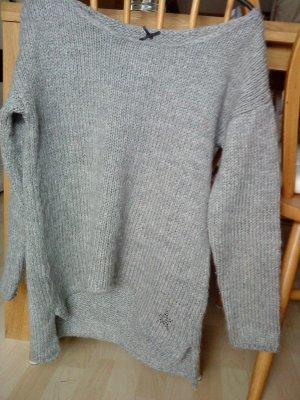 Key Largo - grauer Oversized Pullover mit Stern am Rücken M/L