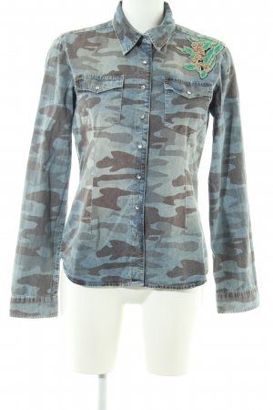 Key Largo Jeanshemd Camouflagemuster Casual-Look