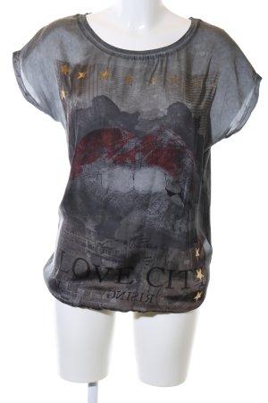 Key Largo Schlupf-Bluse schwarz extravaganter Stil