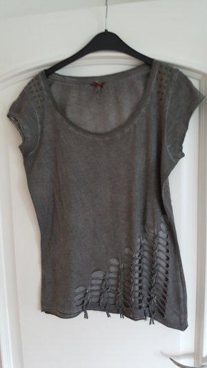 Key Largo Shirt mit Lochung, anthrazitgra, Größe L