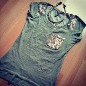 Key Largo Shirt , pailetten, used look