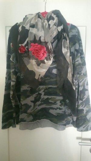 Key Largo Shirt XL 46/48 mit Schal Camouflage wie neu!