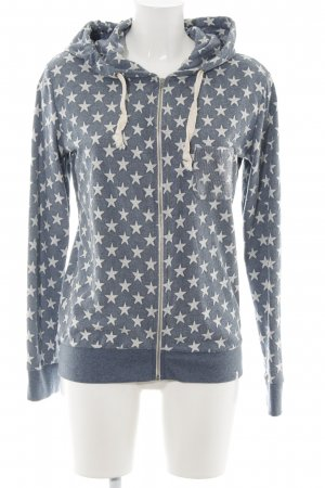 Key Largo Sweatjacke blau Allover-Druck Casual-Look