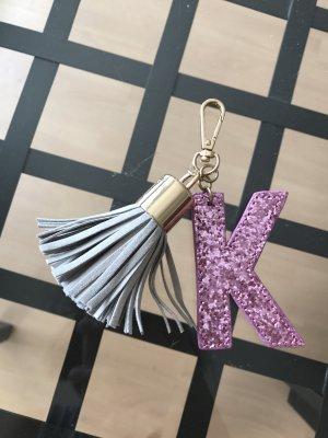 Keychain Schlüsselanhänger Anhänger Tasche Charm Buchstabe K Tassel