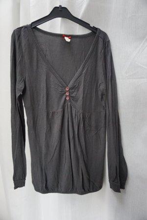 Keylargo Fashion, Longshirt, Longsleeve, grau, Gr. S, V-Ausschnitt, NP 39€