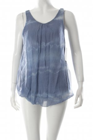 Keysha Seidentop kornblumenblau-weiß Batikmuster klassischer Stil