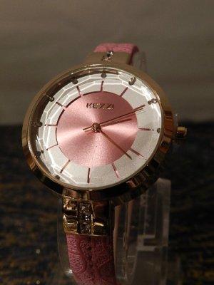 KEZZI Damen Armbanduhr mit Strass Besatz - Pink