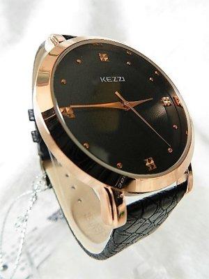KEZZI Fashion Luxus Markenuhr Quarz Armbanduhr Lederarmband Neu