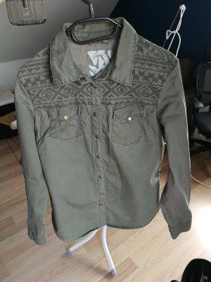 khaki Bluse