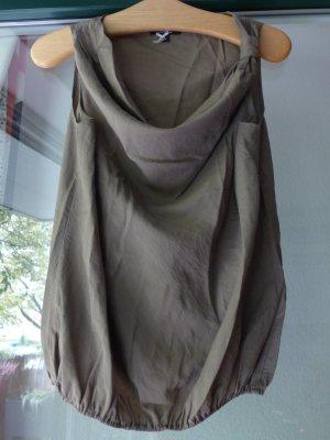 khaki Bluse / Blusentop von Comma - Gr. 36