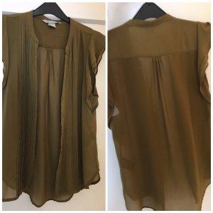 H&M Blouse topje khaki-groen-grijs