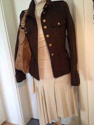 khaki/dunkelgrüne Jacke, Militäry-Look, goldfarbene Knöpfe, Größe S