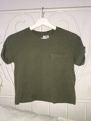 Khaki färbendes Crop top