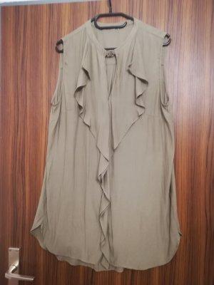 Ruche blouse olijfgroen-khaki